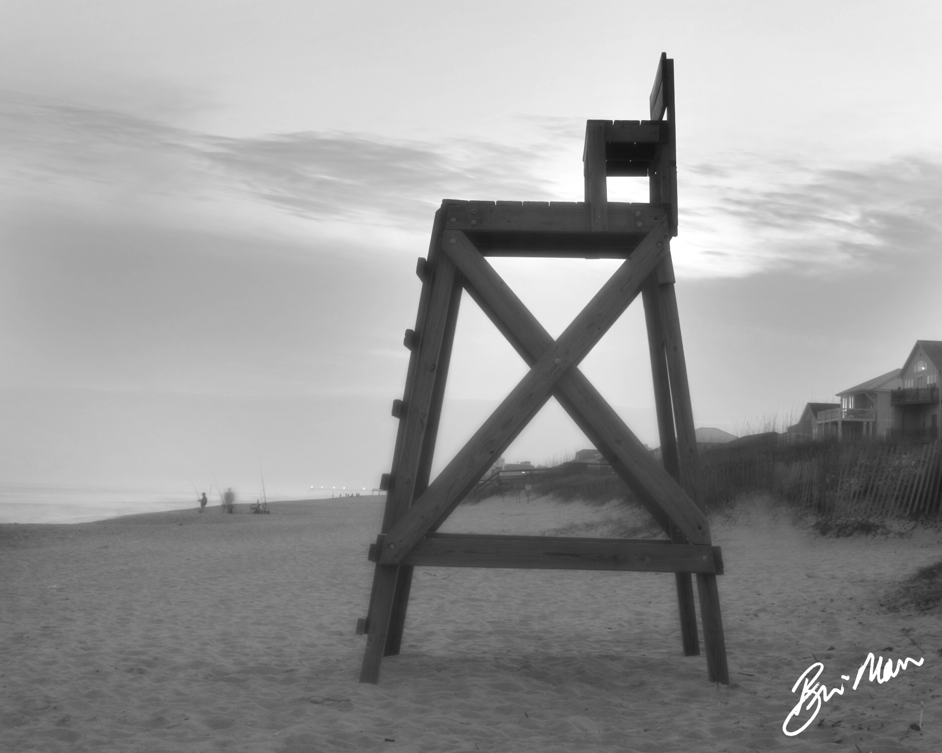 Lifeguard Chair Orton ized in Black and White